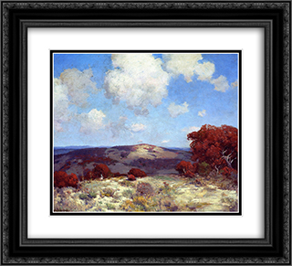 In the Hills of the Spanish Oaks 22x20 Black or Gold Ornate Framed and Double Matted Art Print by Robert Julian Onderdonk