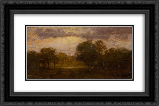 Landscape 24x16 Black or Gold Ornate Framed and Double Matted Art Print by Robert Julian Onderdonk