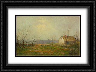 Landscape 24x18 Black or Gold Ornate Framed and Double Matted Art Print by Robert Julian Onderdonk