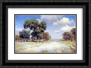 Landscape with Wagon 24x18 Black or Gold Ornate Framed and Double Matted Art Print by Robert Julian Onderdonk