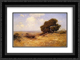 Misty Morning 24x18 Black or Gold Ornate Framed and Double Matted Art Print by Robert Julian Onderdonk