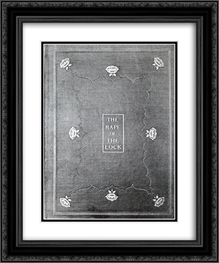 Front Cover 20x24 Black or Gold Ornate Framed and Double Matted Art Print by Aubrey Beardsley