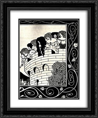 A Devil in Woman's Likeness 2 20x24 Black or Gold Ornate Framed and Double Matted Art Print by Aubrey Beardsley