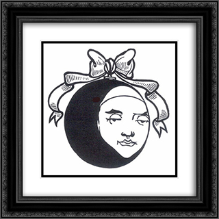 Pierrot 2 20x20 Black or Gold Ornate Framed and Double Matted Art Print by Aubrey Beardsley