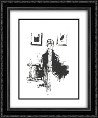 Self-portait 20x24 Black or Gold Ornate Framed and Double Matted Art Print by Aubrey Beardsley