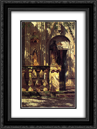 Sunlight and Shadow Study 18x24 Black or Gold Ornate Framed and Double Matted Art Print by Albert Bierstadt