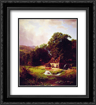 The Old Mill 20x22 Black or Gold Ornate Framed and Double Matted Art Print by Albert Bierstadt