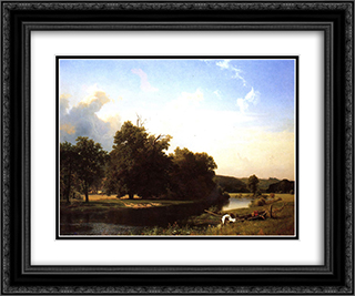 Westphalia 24x20 Black or Gold Ornate Framed and Double Matted Art Print by Albert Bierstadt