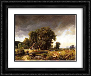 Westphalian Landscape 24x20 Black or Gold Ornate Framed and Double Matted Art Print by Albert Bierstadt