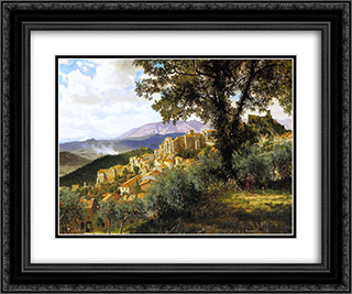 Olevano 24x20 Black or Gold Ornate Framed and Double Matted Art Print by Albert Bierstadt