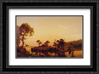 Gosnold at Cuttyhunk 24x18 Black or Gold Ornate Framed and Double Matted Art Print by Albert Bierstadt