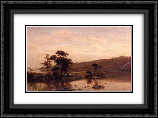 Study for Gosnold at Cuttyhunk 24x18 Black or Gold Ornate Framed and Double Matted Art Print by Albert Bierstadt