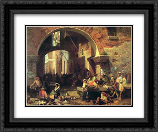 The Arch of Octavius 24x20 Black or Gold Ornate Framed and Double Matted Art Print by Albert Bierstadt