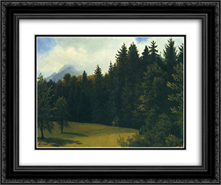 Mountain Resort 24x20 Black or Gold Ornate Framed and Double Matted Art Print by Albert Bierstadt