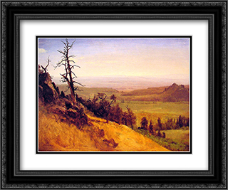 Newbraska Wasatch Mountains 24x20 Black or Gold Ornate Framed and Double Matted Art Print by Albert Bierstadt