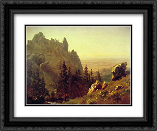 Wind River Country 24x20 Black or Gold Ornate Framed and Double Matted Art Print by Albert Bierstadt