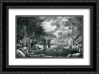 The Betrayal of Judas 24x18 Black or Gold Ornate Framed and Double Matted Art Print by Ivan Aivazovsky