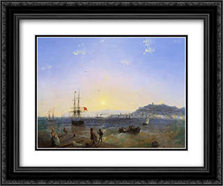 Kerch 24x20 Black or Gold Ornate Framed and Double Matted Art Print by Ivan Aivazovsky