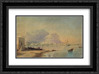 In harbour 24x18 Black or Gold Ornate Framed and Double Matted Art Print by Ivan Aivazovsky
