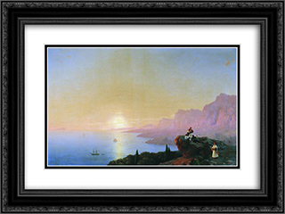 Sea bay 24x18 Black or Gold Ornate Framed and Double Matted Art Print by Ivan Aivazovsky
