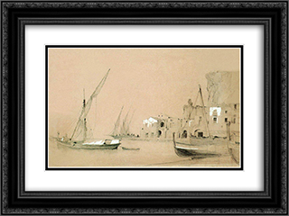 Sorrento. Sea view 24x18 Black or Gold Ornate Framed and Double Matted Art Print by Ivan Aivazovsky
