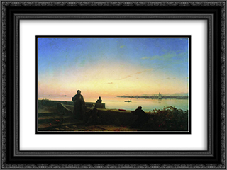 Mhitarists on island of St. Lazarus 24x18 Black or Gold Ornate Framed and Double Matted Art Print by Ivan Aivazovsky