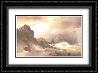 The Shipwreck 24x18 Black or Gold Ornate Framed and Double Matted Art Print by Ivan Aivazovsky