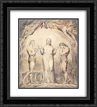 Illustration to Milton`s Paradise Lost 20x22 Black or Gold Ornate Framed and Double Matted Art Print by William Blake
