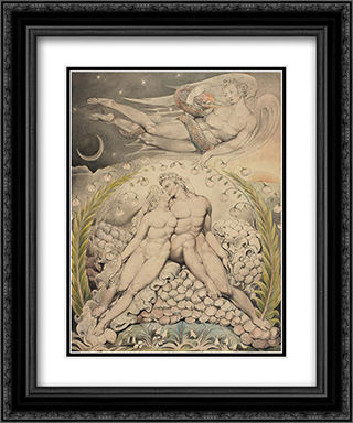 Illustration to Milton`s Paradise Lost 20x24 Black or Gold Ornate Framed and Double Matted Art Print by William Blake