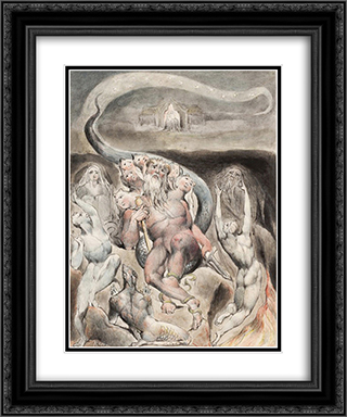 Illustration to Milton`s On the Morning of Christ`s Nativity 20x24 Black or Gold Ornate Framed and Double Matted Art Print by William Blake