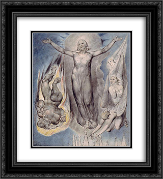 Illustration to Milton`s Comus 20x22 Black or Gold Ornate Framed and Double Matted Art Print by William Blake