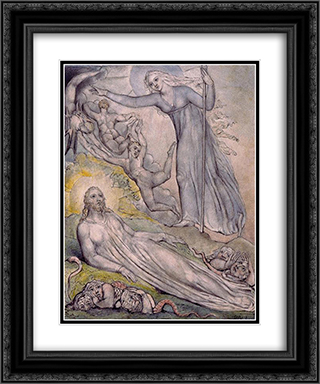 Illustration to Milton`s Comus 20x24 Black or Gold Ornate Framed and Double Matted Art Print by William Blake