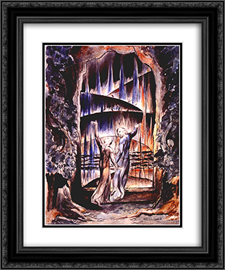 Illustration to Dante's Divine Comedy 20x24 Black or Gold Ornate Framed and Double Matted Art Print by William Blake