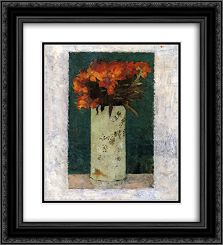 Pot of Flowers 20x22 Black or Gold Ornate Framed and Double Matted Art Print by Pierre Bonnard