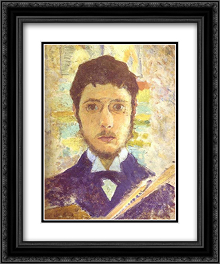 Self Portrait 20x24 Black or Gold Ornate Framed and Double Matted Art Print by Pierre Bonnard