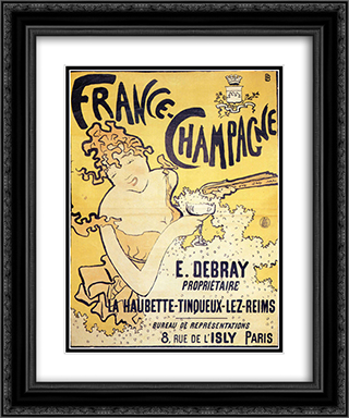Poster advertising France Champagne 20x24 Black or Gold Ornate Framed and Double Matted Art Print by Pierre Bonnard