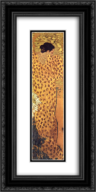 The Dressing Gown 12x24 Black or Gold Ornate Framed and Double Matted Art Print by Pierre Bonnard
