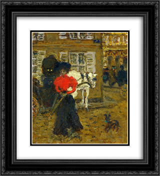 Woman on the Street 20x22 Black or Gold Ornate Framed and Double Matted Art Print by Pierre Bonnard