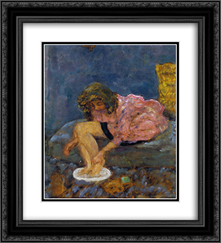 Woman Washing Her Feet 20x22 Black or Gold Ornate Framed and Double Matted Art Print by Pierre Bonnard