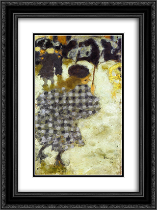 Young Girl with Umbrella 18x24 Black or Gold Ornate Framed and Double Matted Art Print by Pierre Bonnard