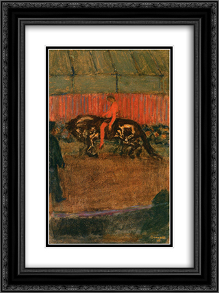 On the Track 18x24 Black or Gold Ornate Framed and Double Matted Art Print by Pierre Bonnard