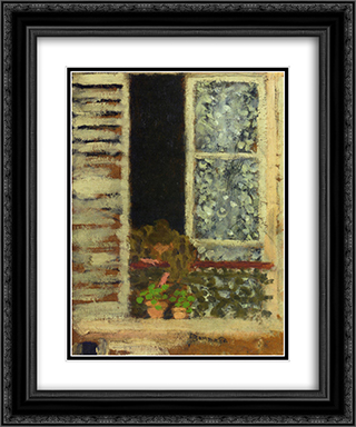 Woman at Her Window 20x24 Black or Gold Ornate Framed and Double Matted Art Print by Pierre Bonnard