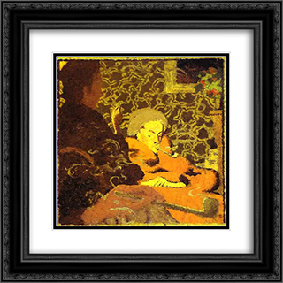 Intimit 20x20 Black or Gold Ornate Framed and Double Matted Art Print by Pierre Bonnard