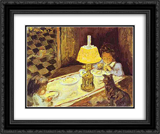 The Lunch of the Little Ones 24x20 Black or Gold Ornate Framed and Double Matted Art Print by Pierre Bonnard