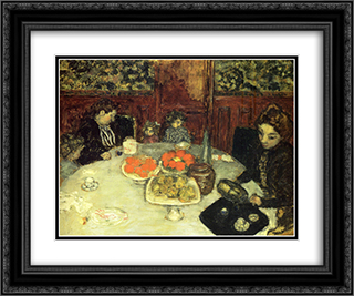 The Luncheon 24x20 Black or Gold Ornate Framed and Double Matted Art Print by Pierre Bonnard