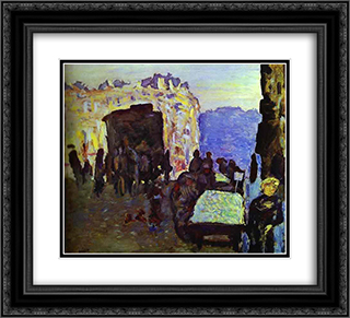 The Merchant of Four Seasons 22x20 Black or Gold Ornate Framed and Double Matted Art Print by Pierre Bonnard