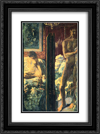 Man and Woman 18x24 Black or Gold Ornate Framed and Double Matted Art Print by Pierre Bonnard