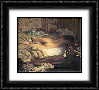 Siesta 22x20 Black or Gold Ornate Framed and Double Matted Art Print by Pierre Bonnard