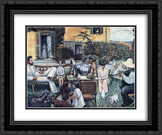 The Bourgeois Afternoon or The Terrasse Family 24x20 Black or Gold Ornate Framed and Double Matted Art Print by Pierre Bonnard