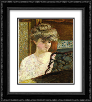 Misia at the Piano (also known as Portrait of Misia Natanson) 20x22 Black or Gold Ornate Framed and Double Matted Art Print by Pierre Bonnard
